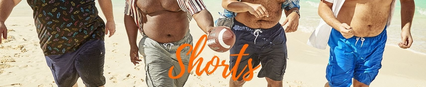 Plus sizes shorts and swimwear for big and tall men